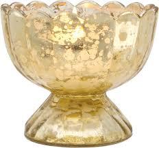 gold suzanne mercury glass chalice candle holder luna bazaar