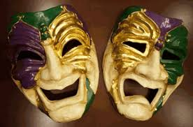 marti gras masks comedy and tragedy mardi gras mask