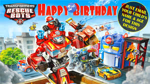 transformer rescue bots party supplies happy birthday banner birthday banner custom banners party