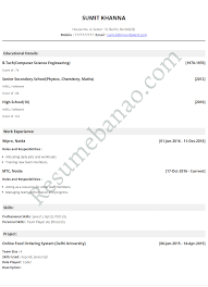 Resume Examples Online Resume Online Resume For Your Job Application