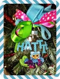 lalaloopsy clear glass filled ornament embellished