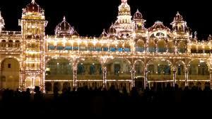 Beautiful Lighting Mysore Palace Lighting Show Beautiful Light Show In Mysuru