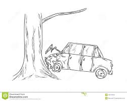 car accident sketch stock vector image 40079903