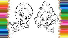 bubble guppies molly oona nonny coloring learning