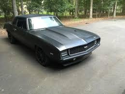 69 camaro flat black 1969 camaro rs 383 with procharger 6 speed transmission custom