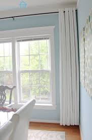 Long Curtain Long Curtains On Short Window Home Design Ideas