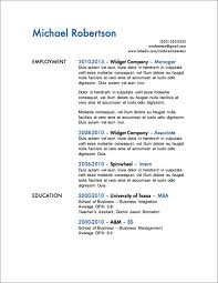 Sample Resume With One Job Experience by 12 Resume Templates For Microsoft Word Free Download Primer