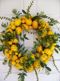 Springtime Wreaths 5 Lovely Lemon Home Accents Wreaths Lemon And Spring Time