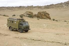 gaz 66 old soviet military truck gaz 66 in gobi desert mongolia stock