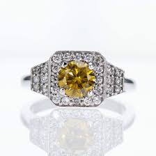 fancy yellow diamond engagement rings fancy yellow color diamond engagement ring market diamonds