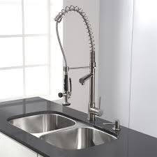 ideas kraus faucets with kitchen island and stainless steel sink