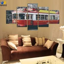 superb vintage train wall decor modern hd oil painting train room