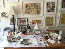 Art Studio Desk by Julie Murphy Art