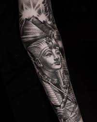 egyptian half sleeve by danielbacz at inkdependenttattoos in