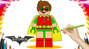 the lego batman movie robin coloring book pages video for kids