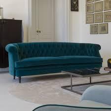 Velvet Sofa Bed Classic Italian Designer Teal Velvet Sofa Juliettes Interiors
