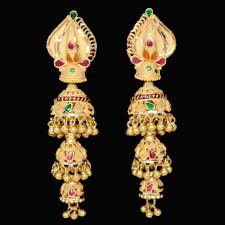 gold ear ring image designer and multi color gold earring