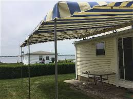 American Awning Custom Patio Canopy Installation In Fairhaven Ma American