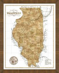 Old Map Old Map Of Illinois U2013 A Great Framed Map That U0027s Ready To Hang