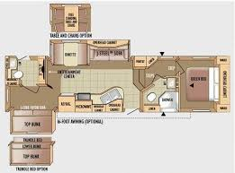 5th wheel front bunkhouse floor plans google search rv living