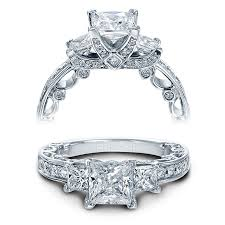 verragio wedding rings verragio engagement rings gold princess cut setting