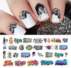 graffiti nail decals set 3 15 decals 5 1 2