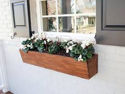 wood window boxes planters linds interior
