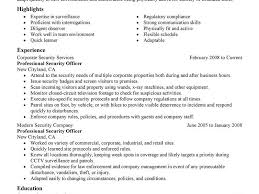 Resume Examples For Security Guard by Security Officer Resume Download Security Guard Resume Examples