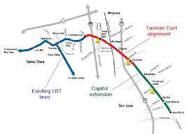 san jose light rail map san jose lrt rolls ahead with tasman east capitol extension