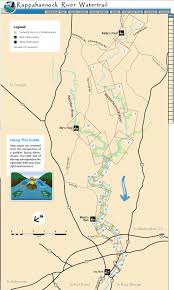 Virginia Rivers Map by Rappahannock River Water Trail Find Your Chesapeake National