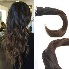 ombre extensions in ombre black to brown human hair extensions thick