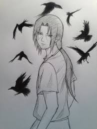 55 beautiful anime drawings itachi crows and naruto