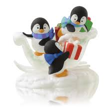 present packing penguins keepsake ornaments hallmark