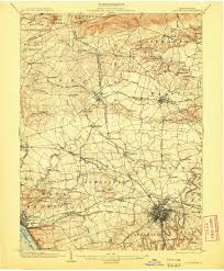 Yosemite Topo Map Lancaster Pa U20141904 Map From The Usgs Historical Topographic Map