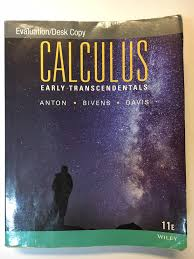 calculus early transcendentals howard anton irl bivens stephen