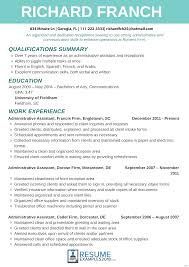 resumes exles for resumes exles for receptionist resume of