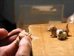 small wooden sculptures miniature wood carving no12