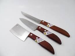 set 3 chef mini knife kitchen knives stainless steel cutlery kiwi