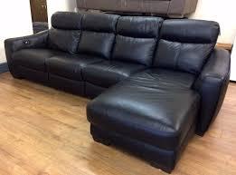 Four Seater Recliner Sofa 4 Seater Black Leather Recliner Sofa Www Energywarden Net