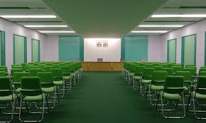 this north korean conference room accidentalwesanderson
