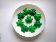 st s day green felt shamrock ornaments felt by lilamina