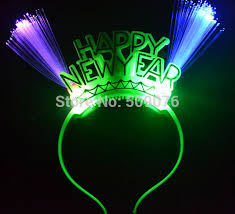 led new years free shipping 2pcs lot light up happy new year headband novelty