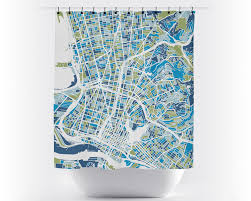 Oakland Map Oakland Map Shower Curtain Usa Shower Curtain Chroma Series