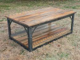 Old Wooden Coffee Tables by Hand Forged Iron And Reclaimed Barn Wood Coffee Table Products I