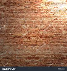 red brick wall texture background with beam light in corner