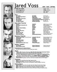 Actors Resume Template A Exle Of A S Acting Resume Becoming A Thespian
