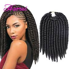 crochet twist hairstyle havana mambo twist crochet braids hair 14 inch