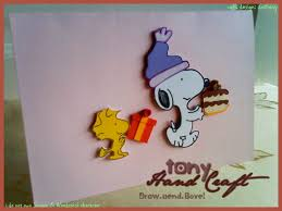 tony hand craft specially requested and made snoopy pop out