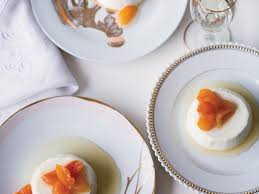 greek yogurt panna cotta with honey glazed apricots recipe kate