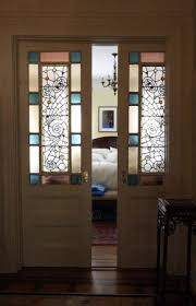 Design House Polished Brass Pocket Door Privacy Hardware by The Stained Glass Pocket Doors Of The Guest Room On The Second